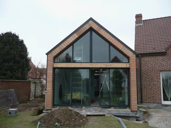 extension maison toit plat prix