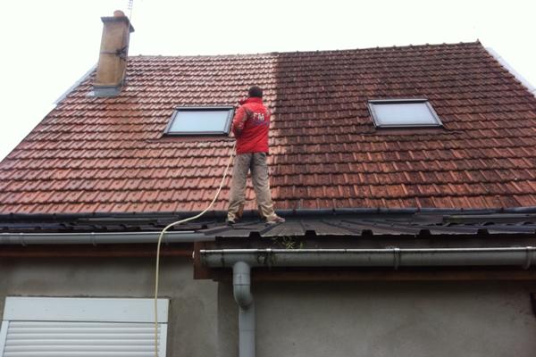 demoussage de toiture prix au m2