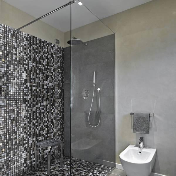 douche à l'italienne mosaique