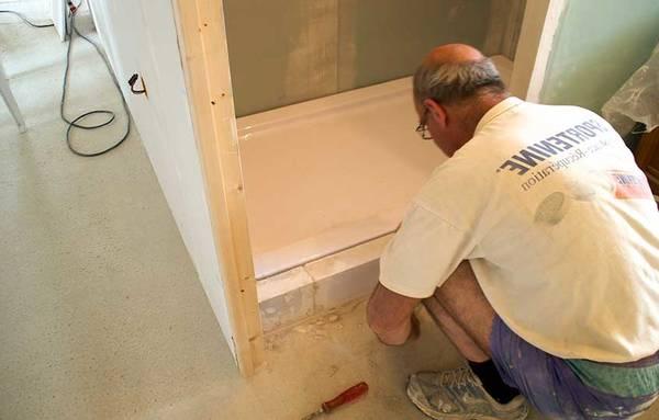 installation douche à l'italienne PMR