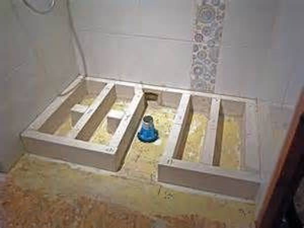 douche à l'italienne en appartement